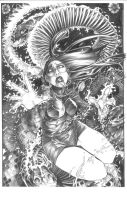 ARCHAIC issue 11 cover pencils by weshoyot