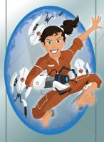 Chell from Portal by Amplion