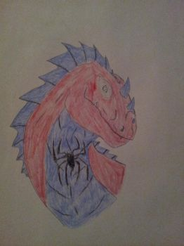Spider Dragon drawing by mandiprime97