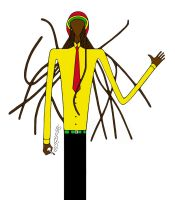 Slender man from Jamaica by Aggeloff
