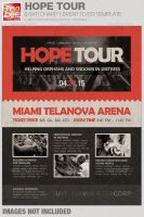Hope Tour Charity Event Flyer Template by loswl