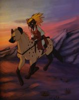 Riding At Dusk by soluble-hermit
