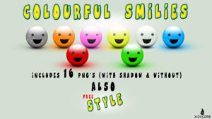 Colourful Smilies Pack -FREE- by Xiox231