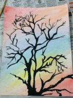 Watercolor Tree Painting by Epileptic-Crayons