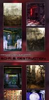 Sci Fi and Destruction Backgrounds by cosmosue