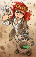 Mad Hatter and Memeg by dragon-flies