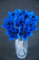 Blue Kusudama Bouquet by lisadeng