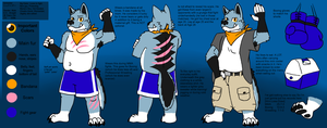 Schneider Reference Sheet (Anthro) by JomoOval