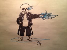 Sans is Going to Give You a Bad Time by NinjaObsessed