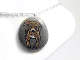 Pit Bull Pendant Necklace by sobeyondthis