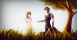 Fate Zero - The Cursed Knight (Lancer and Grainne) by ManNamedGeorge