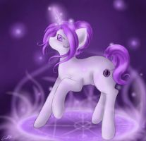 Violet Shadow Moon by SpectralPony