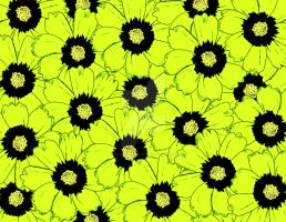 Electric Daisies Mixed Media Piece by technogeek11