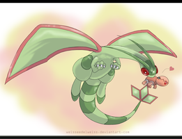 Draw Me a Pokemon: Flygon by WeisseEdelweiss