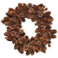 Pinecone Wreath by muffet1