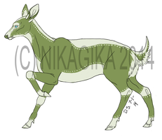$10 Adoptable - Olive Green Embroidery by NikaGika