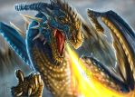 Fire breathing Dragon by Decadia