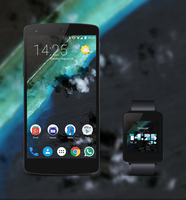 Nexus 5 with LG G Watch by agoNITE