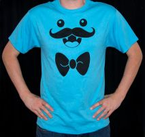 Mustache Monster Tee by rainbowdreamfactory