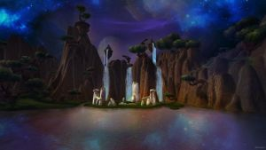 Nagrand at night ~ World of Warcraft by Oblivigate
