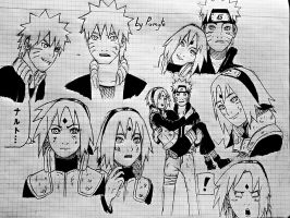 Narusaku sketch dump by pumyte