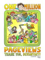 One million pageviews by TheBourgyman