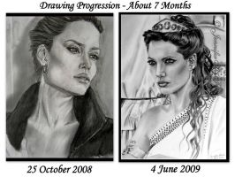 Angelina Jolie Progression by JenniferTheFirst