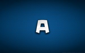 Wallpaper - Captain America Comix 'A' Logo by Kalangozilla