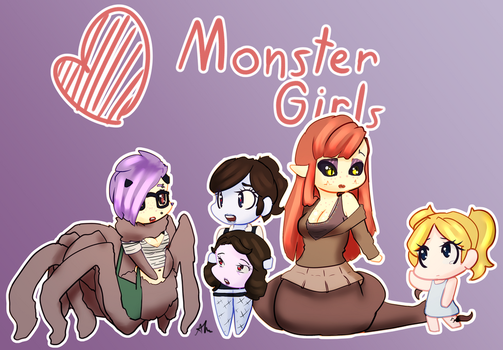 Heart Monster Girls by ACharmingPony