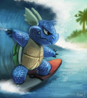 DAY 166. Wartortle (30 Minutes) by Cryptid-Creations