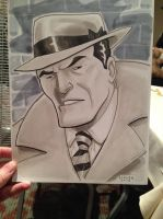 Dick Tracy Detroit Fanfare 2013 sketch by Dave-Acosta