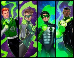 Green Lanterns Panel Grouping by RichBernatovech
