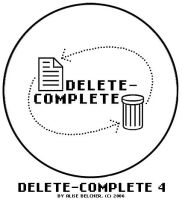 Delete-Complete Button 4 by Two-Players