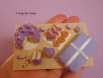 Purple Birthday Cake Set by birdielover