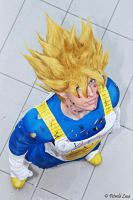 Goku Cosplay battle suit damaged by Alexcloudsquall