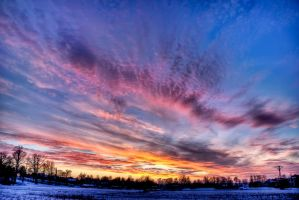 HDR sunset by Yeloon