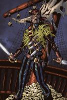 Zombie Pirate by Chad Sergeske by Voodoodwarf