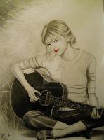 Taylor Swift sitting. by Joezart