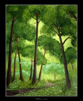 Spring Forest by Clu-art