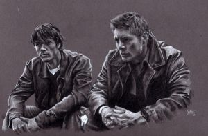 Sam and Dean by AuntyEmmie