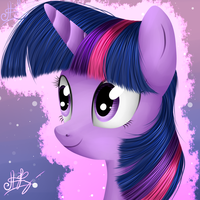 Twilight Sparkle's portrait by Ogniva