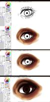 Paint tool SAI- EYE -tutorial by ryky