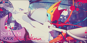 Mewtwo vs Deoxys by LyraMondlicht