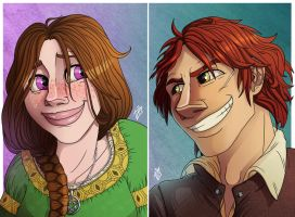 Esmee and Addison - commission by iisjah