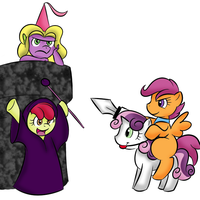 Cutie Mark Crusaders Rescue by VengeanceManifesto