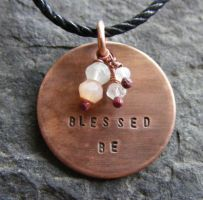 Blessed Be Necklace by MoonLitCreations