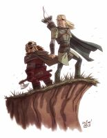 Legolas and Gimli by OtisFrampton