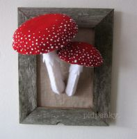 Fly Agaric Toadstools by BibelotForest