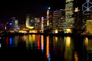 Hong Kong at night by ChristophMaier
