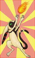 The Lemur is... Firebending? by CubieJ